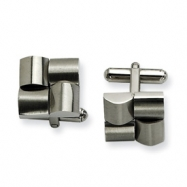 Stainless Steel Satin Cuff Links