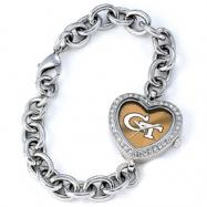 Ladies Georgia Tech Heart Watch