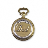 JD Manoir Two-tone Golden Dial Quartz Dad Pocket Watch