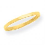 14K High Polished Band Toe Ring