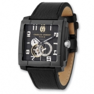 Mens Charles Hubert Black Square Dial Automatic Watch