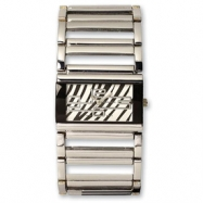 Ladies Simon Chang IP-plated Zebra Pattern Dial Watch