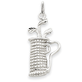 14k White Gold Golf Bag Charm
