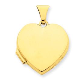 14k Plain Heart Locket