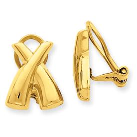 14k Non-pierced  X  Earrings