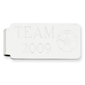 14k White Gold Money clip