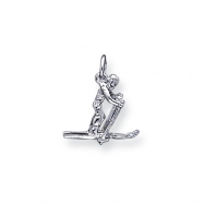 Sterling Silver Skier Charm