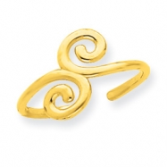 14k Swirl Toe Ring