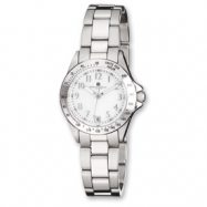 Ladies Charles Hubert Stainless Steel White Dial Watch