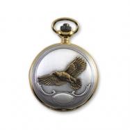JD Manoir Two-tone White Dial Quartz Flying Eagle Pocket Watch