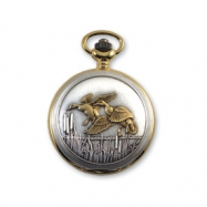 JD Manoir Two-tone White Dial Quartz Flying Ducks Pocket Watch