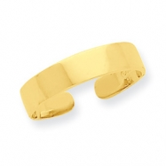 14K Adjustable Polished Band Toe Ring