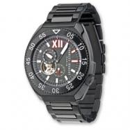 Mens Charles Hubert Black-plated Stainless Black Bezel Watch