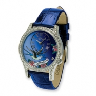 Ladies Ed Hardy Elizabeth Blue Band Watch ring