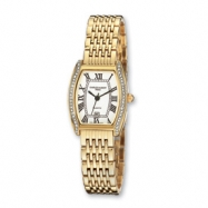 Ladies Charles Hubert Gold-plated Crystal Bezel 25mm Watch