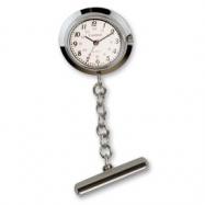 Ladies Cardinal Nurses Silver-tone Lapel White Dial Watch