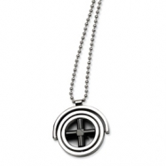 Stainless Steel Black-plated X Fancy Moveable 22in Necklace chain
