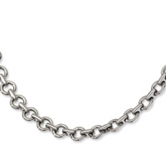 Stainless Steel Polished Links 20in Necklace chain