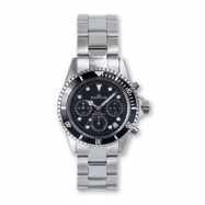 Mens Mountroyal Stainless Steel Black Dial Chronograph Divers Watch