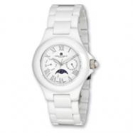 Mens Charles Hubert White Ceramic Multifunction Watch