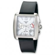 Mens Charles Hubert Rubber Band White 39x35mm Dial Chrono Watch ring