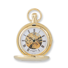 Charles Hubert 14k Gold-plated Pocket Watch