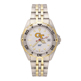 Ladies Georgia Tech All-Star Stainless Steel Band Watch