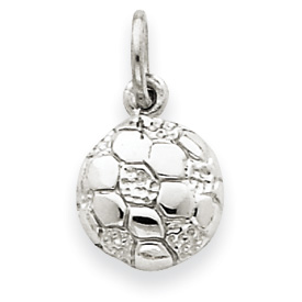 14k White Gold Soccer Ball Charm