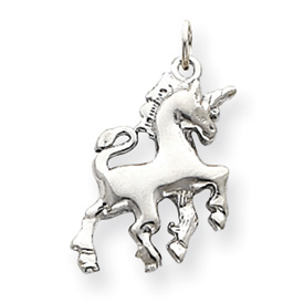 14k White Gold Unicorn Charm
