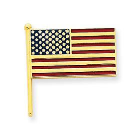 14k Enameled Flag Tie Tac