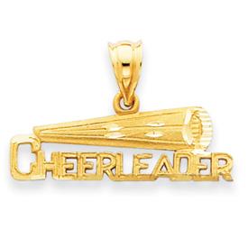 14k Cheerleader Pendant