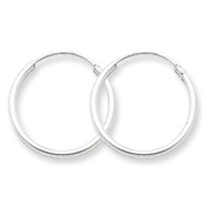 Sterling Silver 1.3mm Hoop Earrings