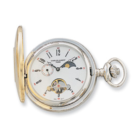 Charles Hubert 14k Gold-plated Off White Dial Pocket Watch