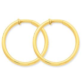 14k Non-Pierced Hoop Earrings