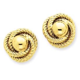 14k Polished & Twisted Fancy Love Knot Post Earrings