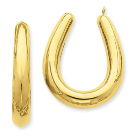 14k Polished Hollow Hoop Earring Jackets