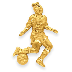 14k Girl Soccer Player Charm