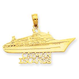 14k Cayman Islands Cruise Ship Pendant