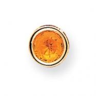14k 7mm Citrine bezel pendant