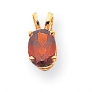 14k 7x5mm Oval Garnet pendant