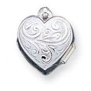 Sterling Silver Scrolled Heart Locket
