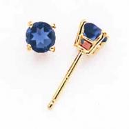 14k 4mm Sapphire earring