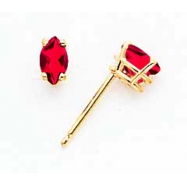 14k 5x2.5mm Marquise Ruby earring