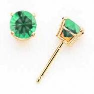 14k 5mm Mount St. Helens earring