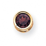 14k 7mm Garnet bezel pendant