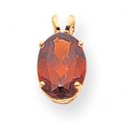 14k 9x7mm Oval Garnet pendant