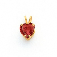 14k 7mm Heart Garnet pendant