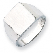 14k White Gold Signet Ring