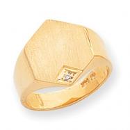 14k Solid Signet Ring