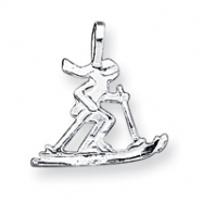 Sterling Silver Skier Pendant